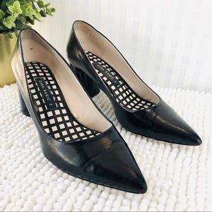 Zara Basic classic pumps pointy toe black leather